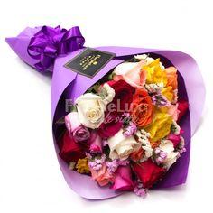 Indrazneste sa ii oferi cele mai frumoase cadouri, un buchet superb! Comanda cadouri pentru zambete senine 😊 https://www.floridelux.ro/trandafiri-multicolori-buchet-elegant.html