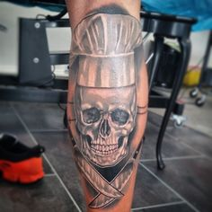 skull chef tattoo by absurdus666 on deviantART