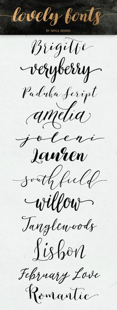 Lovely Modern Calligraphy Fonts Some Free