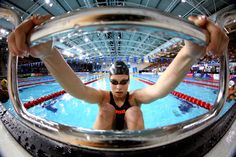 GLASGOW, SCOTLAND - JULY 28: Courtney Butcher of Guernsey prepares to compete in the Women's 50m Backstroke Heat 2 at Tollcross International Swimming Centre during day five of the Glasgow 2014 Commonwealth Games on July 28, 2014 in Glasgow, Scotland. (Photo by Clive Rose/Getty Images)