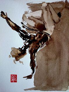 Illustration : Capoeira – 722 [ #capoeira #watercolor #illustration]
