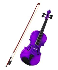 Purple Full-Size Acoustic-Electric Violin Set by New Dimensions #zulily #zulilyfinds