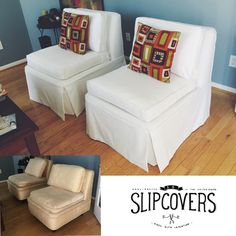 Slipper Chair #makeover In Our French Vanilla Micro Brushed #cotton Twill  With Tailored