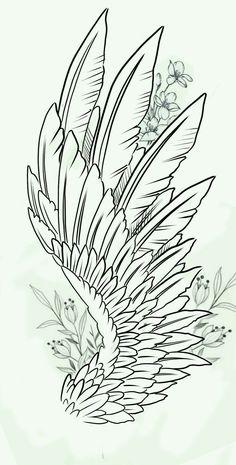 Feather Tattoos, Forearm Tattoos, Body Art Tattoos, Small Tattoos, Sleeve Tattoos, Wing Tattoo Designs, Tattoo Design Drawings, Tattoo Sketches, Alas Tattoo