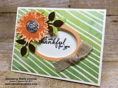 Stampin\' Up! Painted Harvest card created by Shelly Lommel for Stamping to Share Demo Meeting Swap. #stampingtoshare
