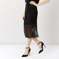 AUDREY LACE PENCIL SKIRT