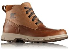 The SOREL Men's Portzman Moc Toe boot is a versatile, waterproof leather lace up with durability, an outdoor sensibility and a polished, urban style. Shop now Expertly crafted fashion-forward designs. Men's Shoes, Shoe Boots, Gentleman Shoes, Mens Boots Fashion, Urban Outfits, Leather And Lace, Urban Fashion, Casual Shoes, Hiking Boots