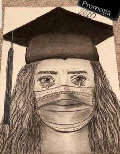 Girl Drawing Sketches, Art Drawings Sketches Simple, Sketches Of Eyes, Sad Girl Drawing, Dark Art Drawings, Pencil Art Drawings, Graduation Drawing, Nurse Art, Doodle Art