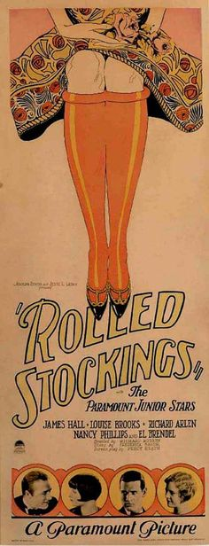 rolled stockings an affectation of many flappers which Louise Brooks refused to adopt.