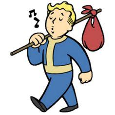 """Fallout Boy"" Stickers by Smeefy Fallout 4 Vault Boy, Fallout Art, Retro Cartoons, Animated Cartoons, Fallout Tattoo, Pip Boy, Vault Tec, Boy Walking, Vinyl Record Art"