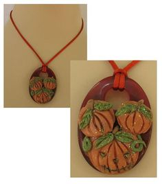 Magical Stack of Pumpkins Pendant Necklace by britpoprose99, $14.99