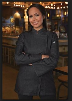 Ready for a new restaurant uniform look for your servers, waiters, chefs and kitchen? Our uniform idea consultants are here to help-free advice-free samples Spa Uniform, Hotel Uniform, American Uniform, Restaurant Uniforms, Uniform Design, African Fashion, Chef Jackets, Work Wear, Fashion Design