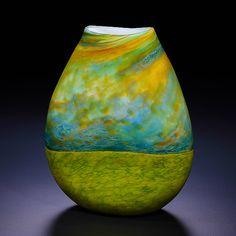 """""""Stormy Sky""""  Art Glass Vase"""