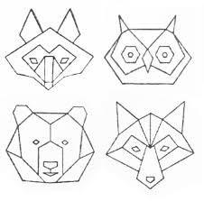 Bildergebnis für stempel origami tiere
