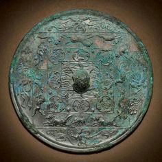 Tang dinasty bronze mirror.
