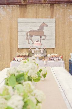 A Vintage Pony Themed Birthday Party -- I will do this someday for Nora.  5th birthday maybe?