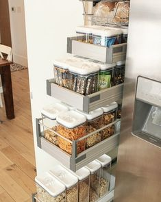 """2,090 Likes, 78 Comments - Cassity Kmetzsch (@remodelaholic) on Instagram: """"Look at these pull-out pantry drawers! So organized, so accessible. What area of your home do you…"""""""