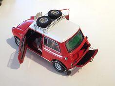 Morris Mini Cooper 1275 'S' Winner of 1967 Monte Carlo by TAMIYA 1/24 Red Mini Cooper, Mini Cooper Classic, Classic Mini, Classic Cars, Mini Lifestyle, Corgi Toys, Mini Countryman, Mini Stuff, Car Humor