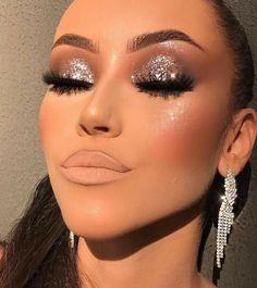 Glitter Makeup Looks, Fancy Makeup, Glam Makeup Look, Glamour Makeup, Makeup Eye Looks, Gorgeous Makeup, Skin Makeup, Eyeshadow Makeup, Pretty Makeup Looks