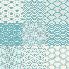 Vector Art: seamless ocean wave pattern