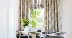 Here, our cream floral curtains contrast beautifully with a striped Roman blind. - See more at: http://www.hillarys.co.uk/inspiration/2014/05/monochrome-florals/#sthash.r3qEs3Fm.dpuf #fashion #interiors #trends #style