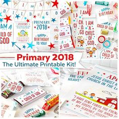 This is the ULTIMATE 2018 Primary Printable Kit is for LDS primaries! The 2018 primary theme I Am a Child of God, is the focus of this kit. Everything you need for primary in 2018 is included in this massive kit: bulletin board posters, monthly theme posters, gift tags, assignment