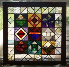 stained glass window small sampler by leibenaller on Etsy