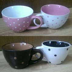 Cups, dots, love cofee, decor.