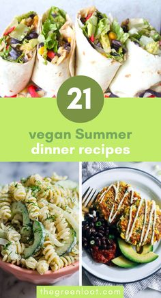 These light Vegan Summer Dinner Recipes and Ideas are perfect for those hot days when you just want to stay out of the kitchen. Make these healthy and easy Light Summer meals in only under 30 minute! | The Green Loot #vegan #veganrecipes