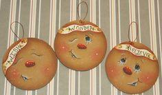 Adornos de Navidad de pan de jengibre madera HP