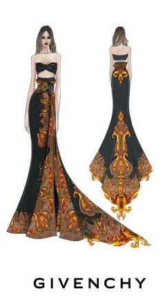 Givenchy #ilustracion #fashion #moda #bocetos #sketch