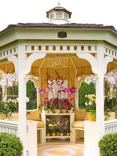 A gazebo is a stunning add-on to a backyard. This gazebo might be your personal oasis or a fantastic location for family gathering. Gazebo Pergola, Gazebo Plans, Garden Gazebo, Gazebo Ideas, Pergola Kits, Patio Ideas, Screened Gazebo, Garden Paths, Backyard Ideas