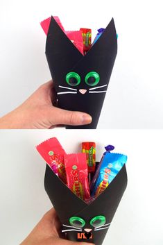 Add some spook to your sweets this Halloween by making this cat sweet cone! Easy Crafts, Crafts For Kids, Health Smoothie Recipes, Sweet Cones, Craft Tutorials, Craft Ideas, Breakfast On The Go, Meals For Two, Lily