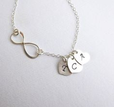 Sterling Silver Infinity Three Heart by tinycottagetreasures, $35.00