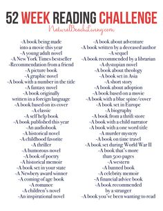 The Best 52 Week Reading Challenge Everyone Will Love An Epic Reading Challenge Everyone Will Love, 52 Weeks of book ideas perfect for yourself, your family, or a book club. Take the time to enjoy reading again, free printable I Love Books, Good Books, Books To Read, Book Challenge, Reading Challenge, Challenge Ideas, Reading Lists, Book Lists, Free Reading