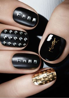 YSL Couture metal manicure