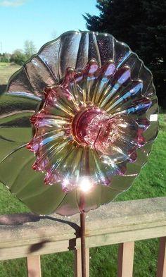 Glass garden art by Kimber's Garden Gems on Facebook
