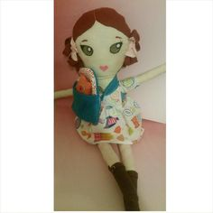 Hey, I found this really awesome Etsy listing at https://www.etsy.com/listing/233825968/emma-rag-doll-girl-red-hair-curls