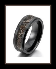 Men's Ceramic Ring Black Brown Hunting Camo Camouflage Comfort Fit Band Wedding Polished Unique This rugged Mens Ceramic Rings, are very stylish with its camouflage inlay.  http://theceramicchefknives.com/mens-ceramic-rings/