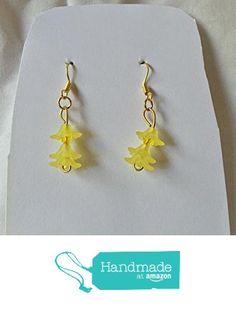 Lemon Yellow Flower Earrings from Southern Women Crafts http://www.amazon.com/dp/B01CIUJGP4/ref=hnd_sw_r_pi_dp_Bbx.wb10Q6TG0 #handmadeatamazon