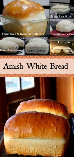 These gorgeous loaves of Amish White Bread are puffy and soft a little sweeter than my honey buttermilk bread recipe but with a similar texture and a more buttery flavor. These are the loaves your grandma remembers. One of the most popular recipes on the Most Popular Recipes, Favorite Recipes, Honey Buttermilk Bread, Buttermilk Recipes, Amish White Bread, Think Food, Dinner Rolls, How To Make Bread, Bread Baking