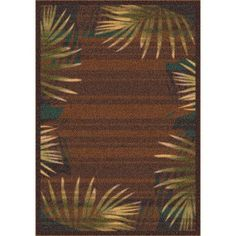 "Milliken Modern Times Palm Brown Leather Area Rug Rug Size: 2'1"" x 7'8"""