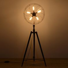 Creative design fan lamp floor lamp for living room country style fan light standing lights for foyer with the base type of Tall Floor Lamps, Floor Lamp Shades, Modern Floor Lamps, Free Standing Lamps, Floor Standing Lamps, Standing Lights, Industrial Fan, Industrial Floor Lamps, Decorative Floor Lamps