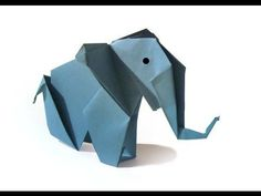 Origami Elephant - Tutorial OLD VERSION - How to make an origami Elephant - YouTube
