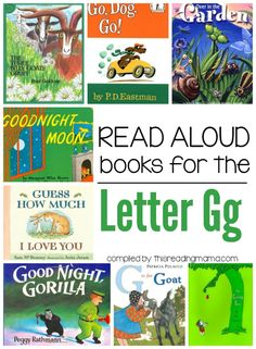 Read Aloud Books for the Letter G | This Reading Mama