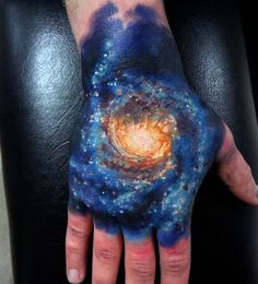 Creative Male Space Tattoos On Hand
