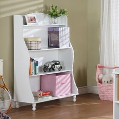 InRoom Designs Tall Bookcase in White