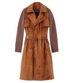Derek Lam Suede Trench Coat