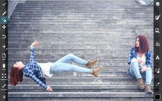 how to levitate using PicsArt photo editor