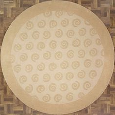 New Contemporary Modern Area Rug 62675 - Contemporary Area Rugs, Modern Area Rugs, Modern Contemporary, Swirl Pattern, Round Rugs, Colorful Backgrounds, Beige, Patterns, Handmade